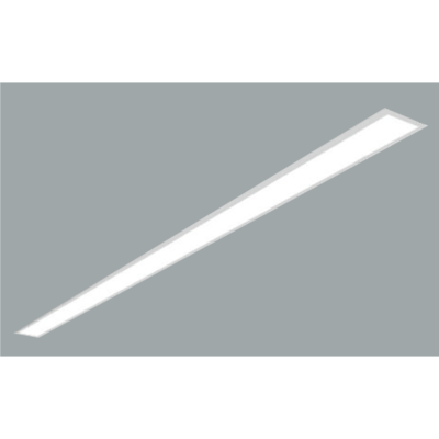 A white recessed Ceiling light with grey background.