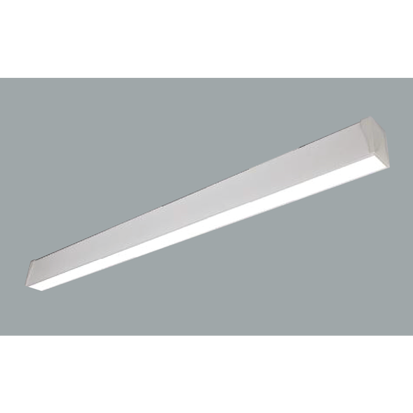 White Linear LED ceiling lights on a grey background