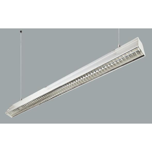 An aluminium linear led on grey background.