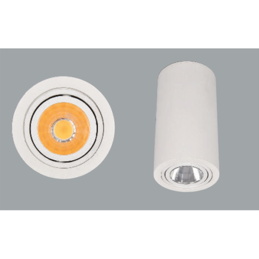White surface mounted ceiling lights with a grey background