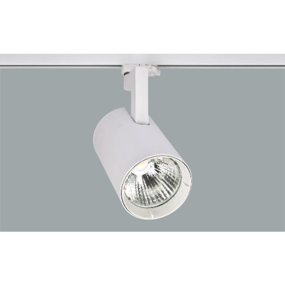 A white Led Spotlights with a grey background.
