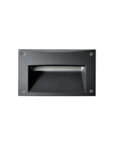 2111 Black and White Outdoor Recessed Wall Light with 12W on a white background