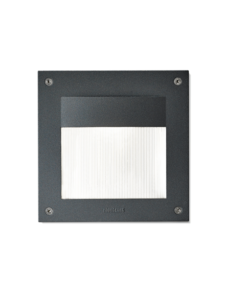 2113 Black and White Outdoor Recessed Wall Light with 12W on a white background