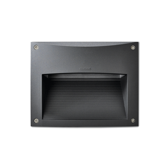 2117 Black Outdoor Recessed Wall Light with 16W on a white background