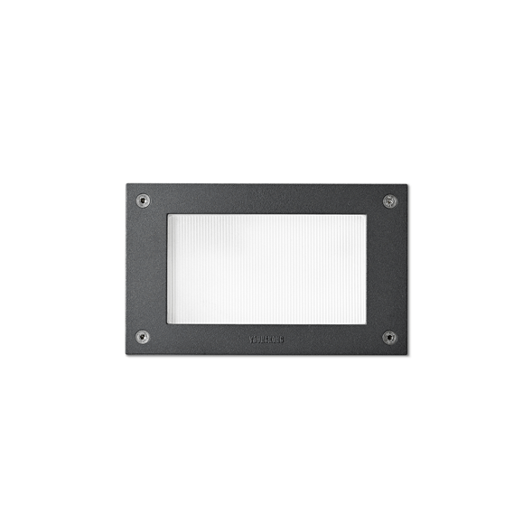 2131 Black and White Outdoor Recessed Wall Light with 8W on a white background