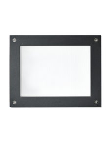 2137 Black and White Outdoor Recessed Wall Light with 18W on a white background