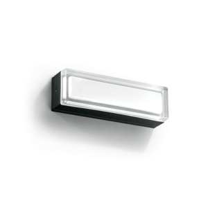 A flat white outdoor wall lighting with white background.