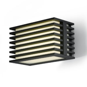 A modern black outdoor wall lighting with a white background.
