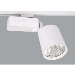 A white horizontal Led Spotlights with a grey background.