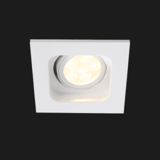 A white deep led downlight with black background