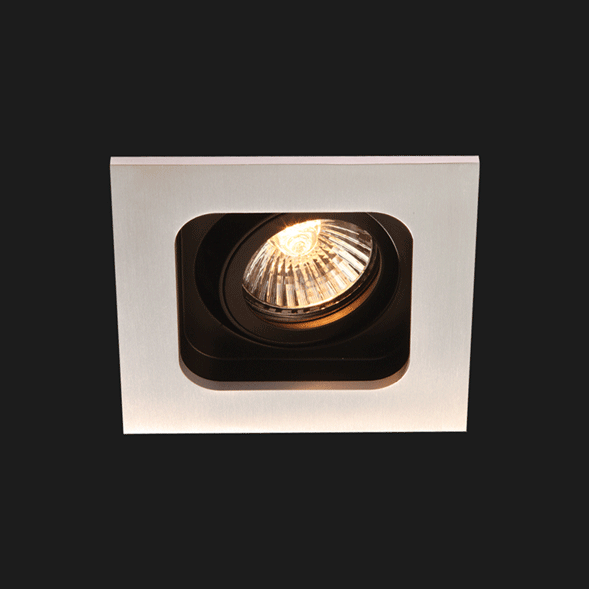 A anthracite deep led downlight with black background