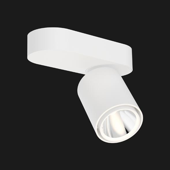 White chrome base organic ceiling light on a black background