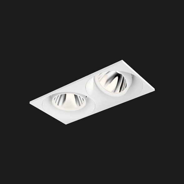 A white rectangle led downlight with a black background.