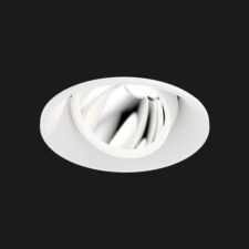 A white mix led downlight with black background