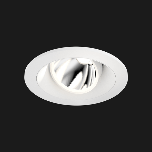 A white round mix led downlight with black background