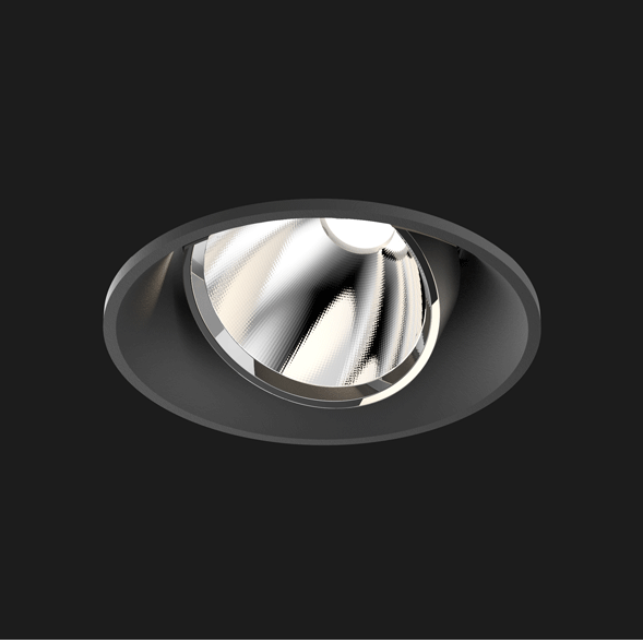 A black mix round led downlight with black background
