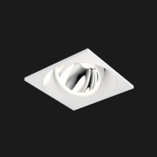 A white square mix led downlight with black background