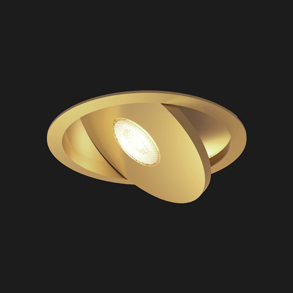 A gold flat led with black background
