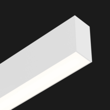 A white linear LED on a black background.