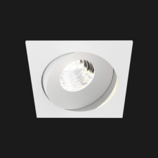 A white square led downlight with black background