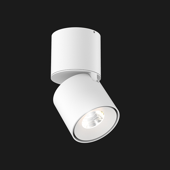 A white Led Spotlights with a black background.