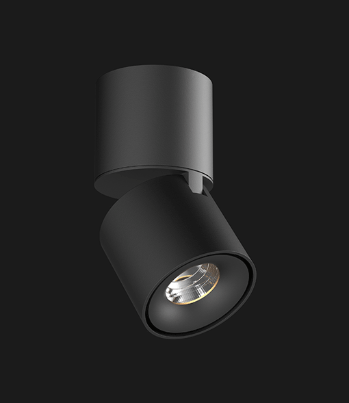 A black Led Spotlights with a black background.