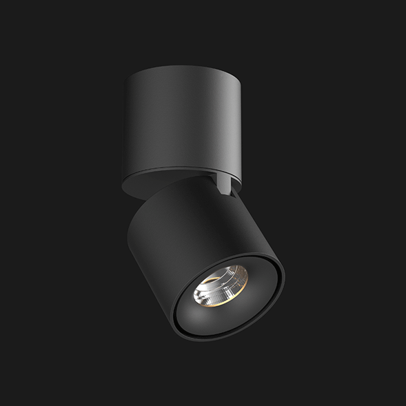 A black Led Spotlights with a black background.