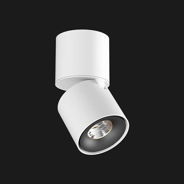 A black and white Led Spotlights with a black background.