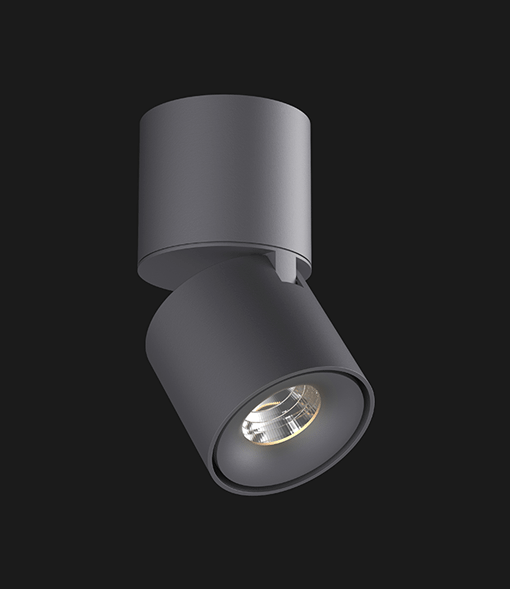 Anthracite Led Spotlights with a black background.