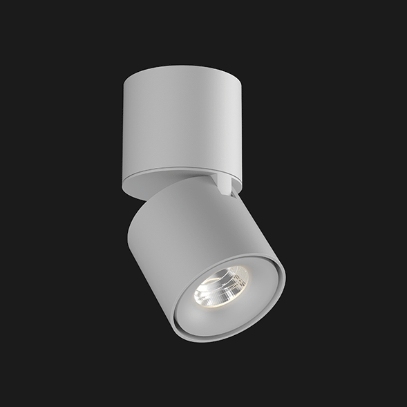 A grey Led Spotlights with a black background.