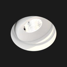 A deep white led downlights with a black background