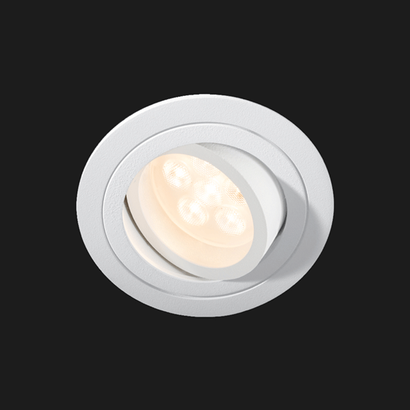 A white flexible led downlight with black background