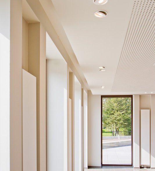 A luxury hallway with led downlights