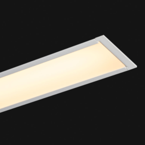 White Recessed linear LED 45x52mm on a black background